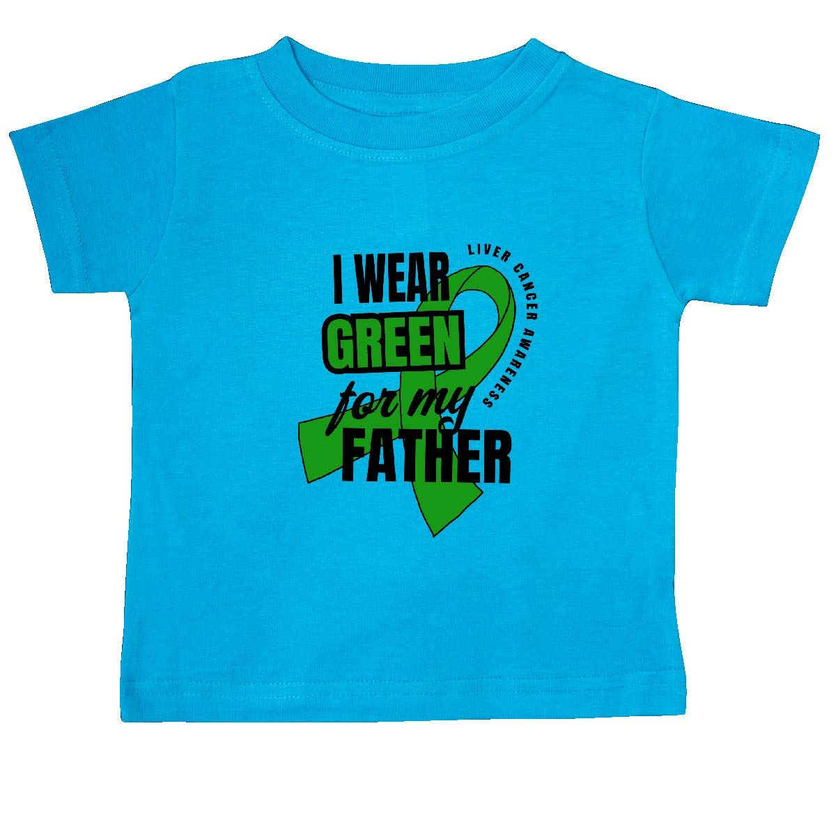 inktastic I Wear Green for My Father Liver Cancer Awareness Baby T-Shirt