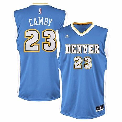 huge discount 2c2cb 14cf9 adidas Marcus Camby Denver Nuggets NBA Men s Blue Replica Jersey ...