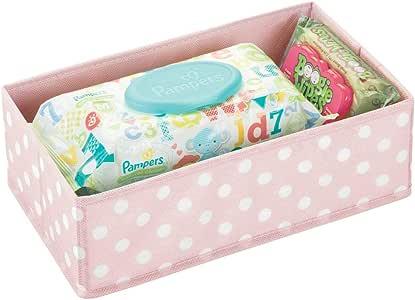 mDesign Caja de almacenaje para habitación infantil o baño – Cesta ...