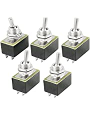 Uxcell a12102500ux0330 AC 220V 3 Amp 110V 6 Amp ON/Off 2 Position SPST Toggle Switch, 5 Piece