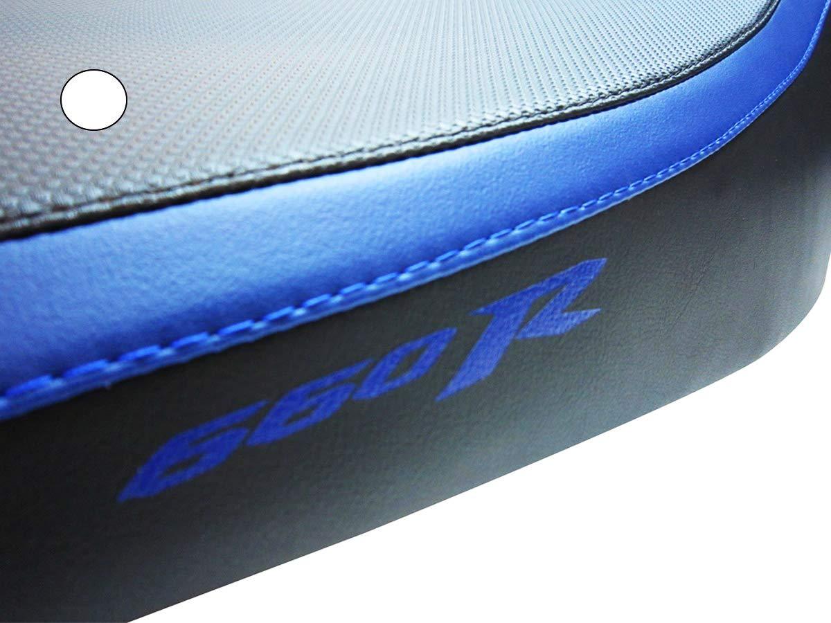 Housse de Selle Yamaha XT660R Noir-Bleu avec Logos