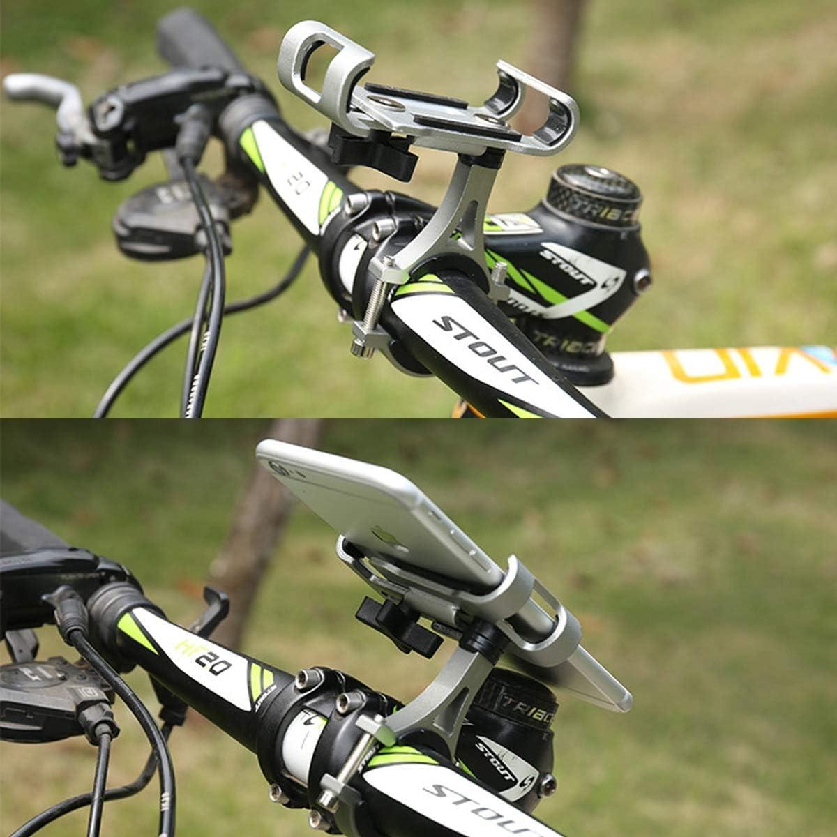 DEALPEAK Aluminum Motorcycle Bike Bicycle Holder Mount MTB Handlebar for Cell Phone GPS Color : Black