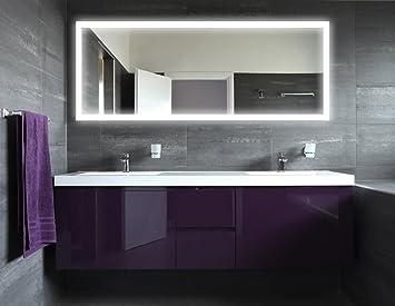 Badspiegel Mit Beleuchtung New York M303L4: Design Spiegel Für Badezimmer,  Beleuchtet Mit LED