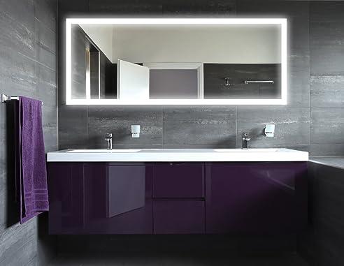 Badspiegel Mit Beleuchtung New York M303L4: Design Spiegel Für