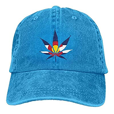 New Baseball Cap Weed Colorado Flag Denim Female Casual Personalized Snapback Hats by WAZH
