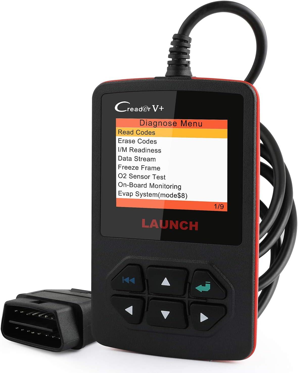 LAUNCH X431 OBD2 Scanner Creader V Plus Car Code Reader Diagnostic OBDII Leak Detection Tool