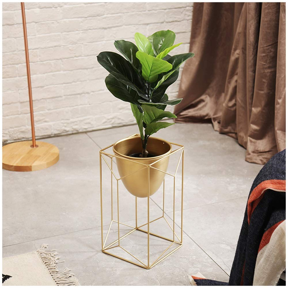 GYAO-Scaffali porta piante Nordic Shaped Decoration Modern Minimalist Flower Pot Mensola Morbido Balcone Flower Pot Living Room Frame per Piante Flower Stand in Ferro battuto (Dimensione   40x50cm)