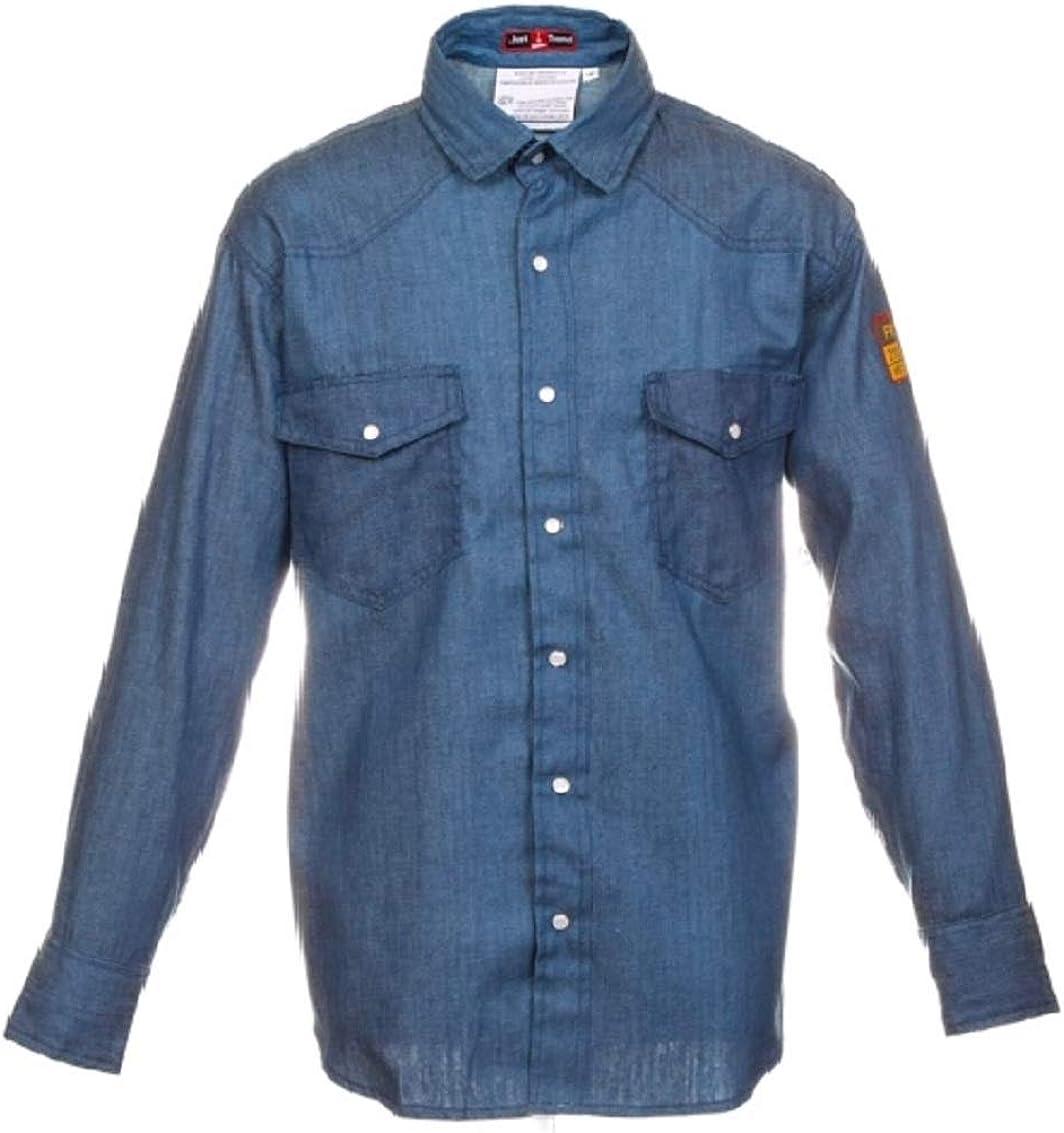 100/% C 7 oz Flame Resistant FR Denim Shirt