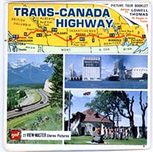 Trans Canada Highway   Classic Viewmaster   3 Reels Packet   21 3D Images From The 1970S