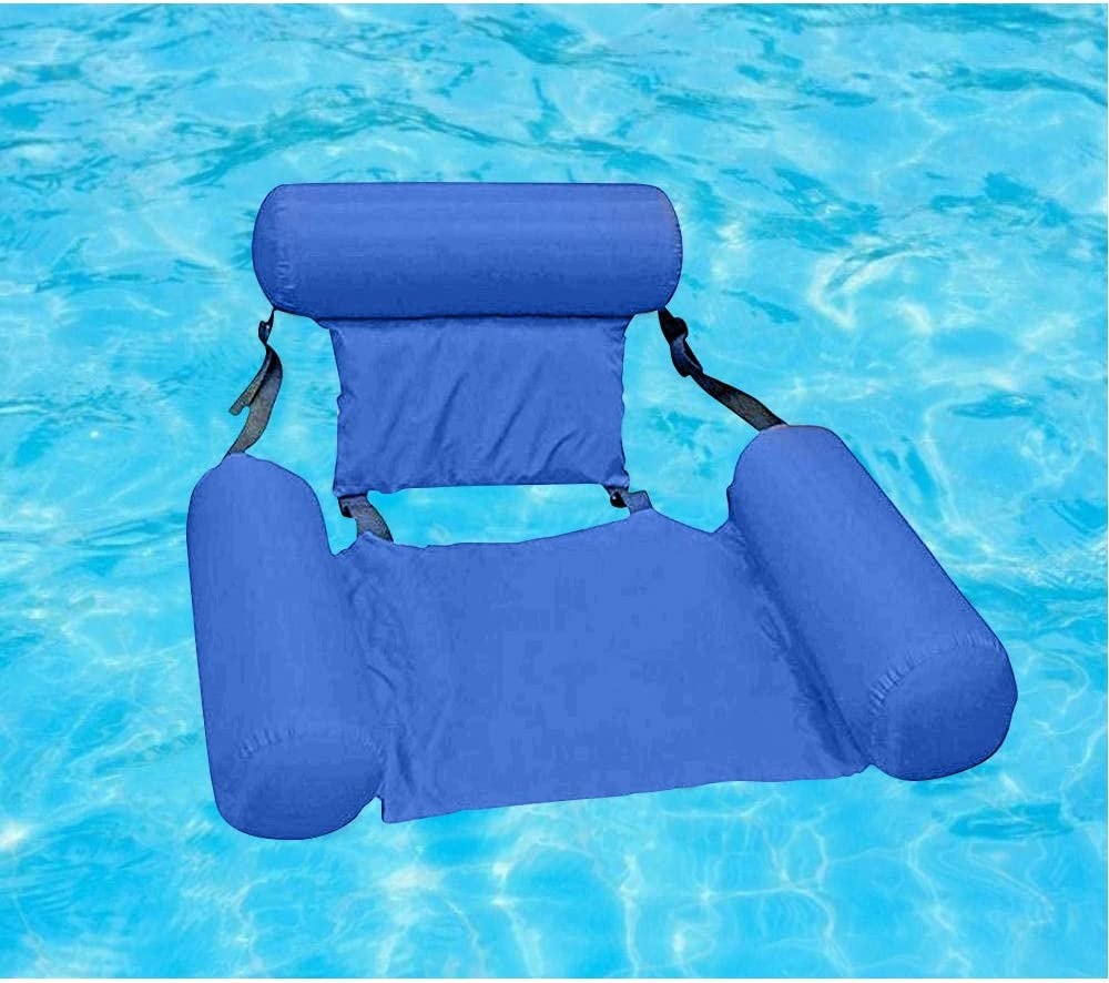 Pool Chairs Lounges in Water Inflatable Swimming Pool Float Lounge,Portable Water Floating Hammock for Adults and Kids