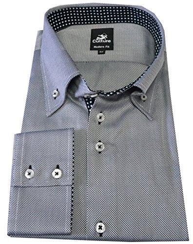 Culture Designerhemd, Modern fit, Langarm in Grau