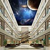 LHDLily Meteorite Universe Ground Wallpaper Conference Supermarket Wear Self-Adhesive Floor Mural 400cmX300cm