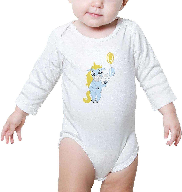 Two Cute Unicorns on a Heart Baby Boys Girls Beautiful Baby Onesies