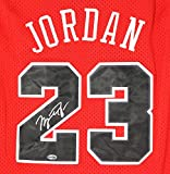 Michael Jordan Chicago Bulls Signed Autographed Red #23 Jersey
