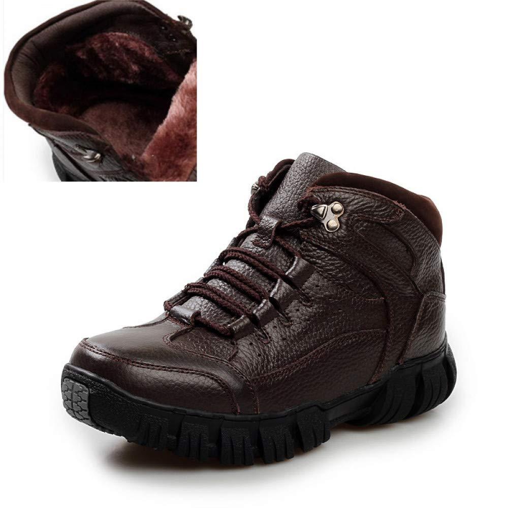 FHCGMX Super Warme Winter Männer Stiefel Aus Echtem Leder Stiefel Männer Winter Schuhe Männer Militärstiefel Für Männer Schuhe