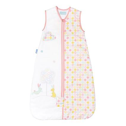 Blossom Bunny - Saco de dormir infantil, diseño de conejo blanco bunte Motive Talla: