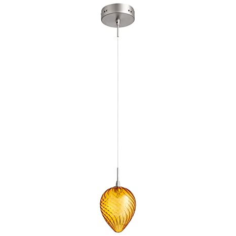 Orange glass pendant light amazon orange glass pendant light aloadofball Image collections