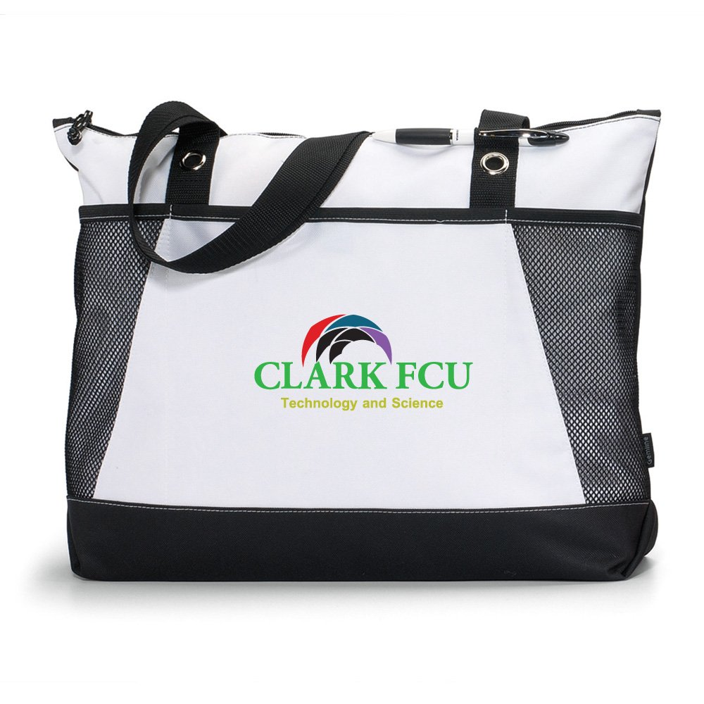 Venture Business Tote - 50 Quantity - $12.25 Each - BRANDED / EMBROIDERED with YOUR LOGO / CUSTOMIZED