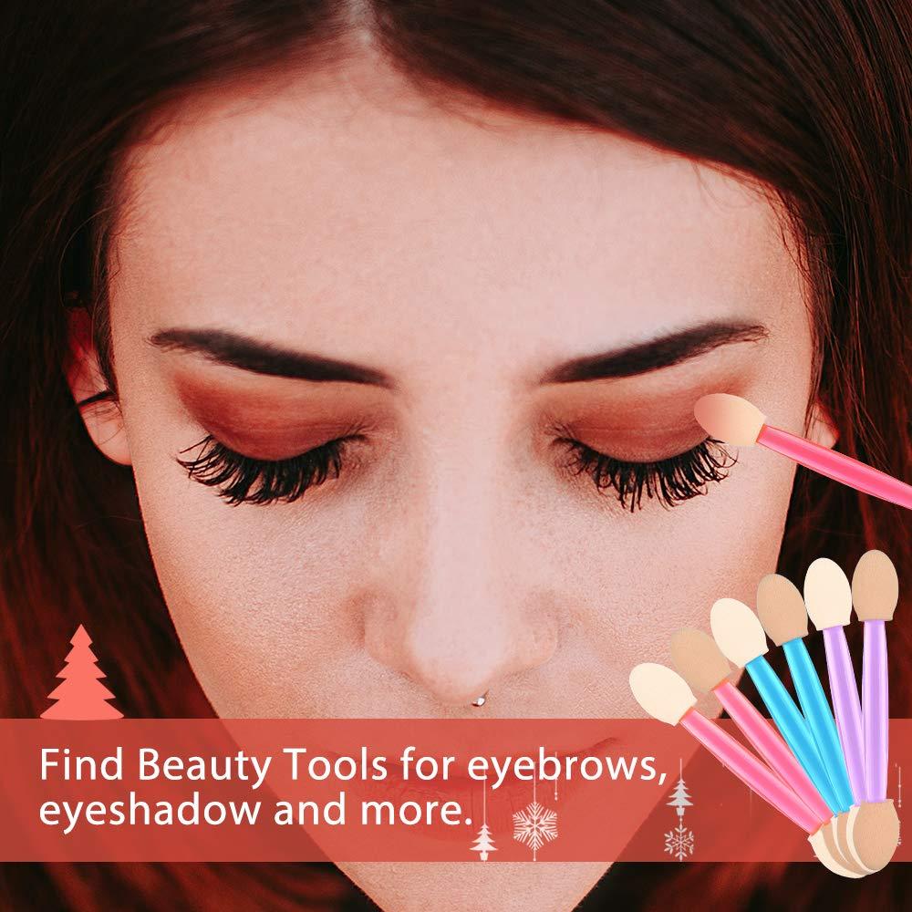 Eyeshadow Applicators,MORGLES 15Pcs Disposable Eyeshadow Brushes Dual Sides Eye Shadow Sponge Applicators (Pink,Purple,Blue): Beauty