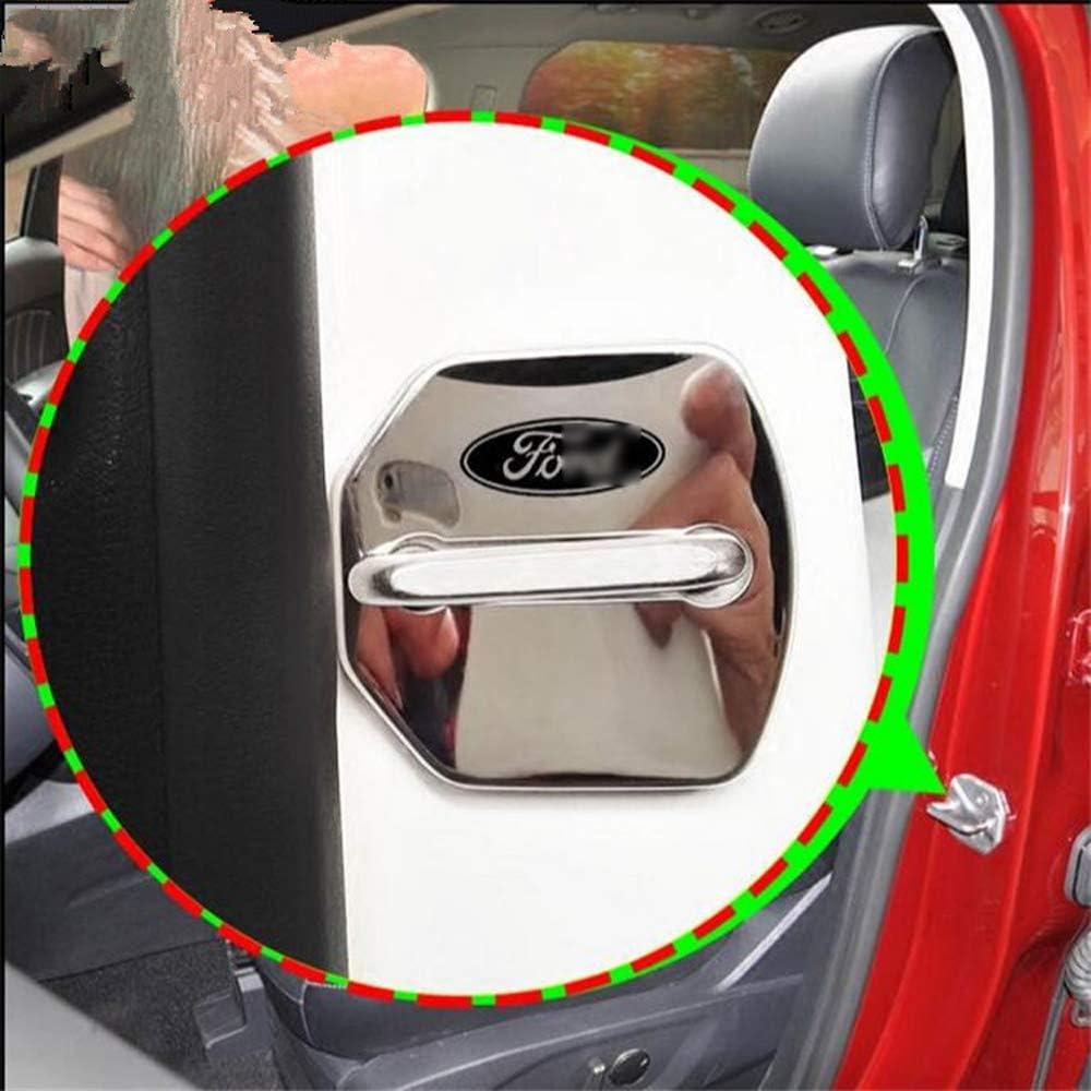 YYD Copertura Rust Auto Copertura del Portello della Serratura della Serratura di Portello di Ford,Nero