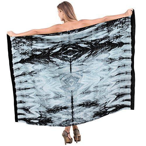 *La Leela* 100% coton jupe tie dye main couvrir plage femmes Sarong 78x42 pouces
