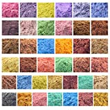10g 20g 50g 1000g Cosmetic Grade Natural Mica Powder Pigment for DIY Soap Candle Making,Bath Bombs,Eyeshadow,Lipsticks Toiletry Crafter 38 Color (50g, All 38 Colors)