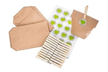 Bolsas de regalo Set: 24 bolsas de papel de regalo papel ...
