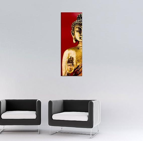 Bilderdepot24 Cuadros en Lienzo Buda II 40 x 120 cm 3 Piezas ...