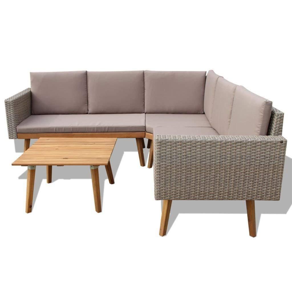 Amazon.com: H4home - Juego de muebles de ratán para ...