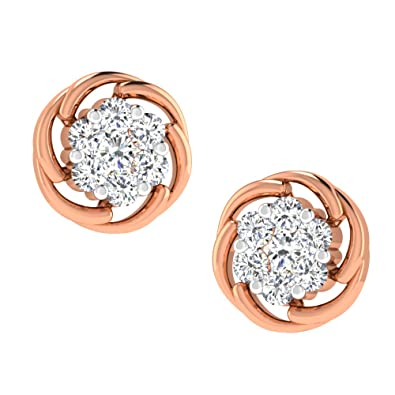 8e482b874 His & Her Diamonds .925 Sterling Silver and Diamond Stud Earrings:  Amazon.in: Jewellery