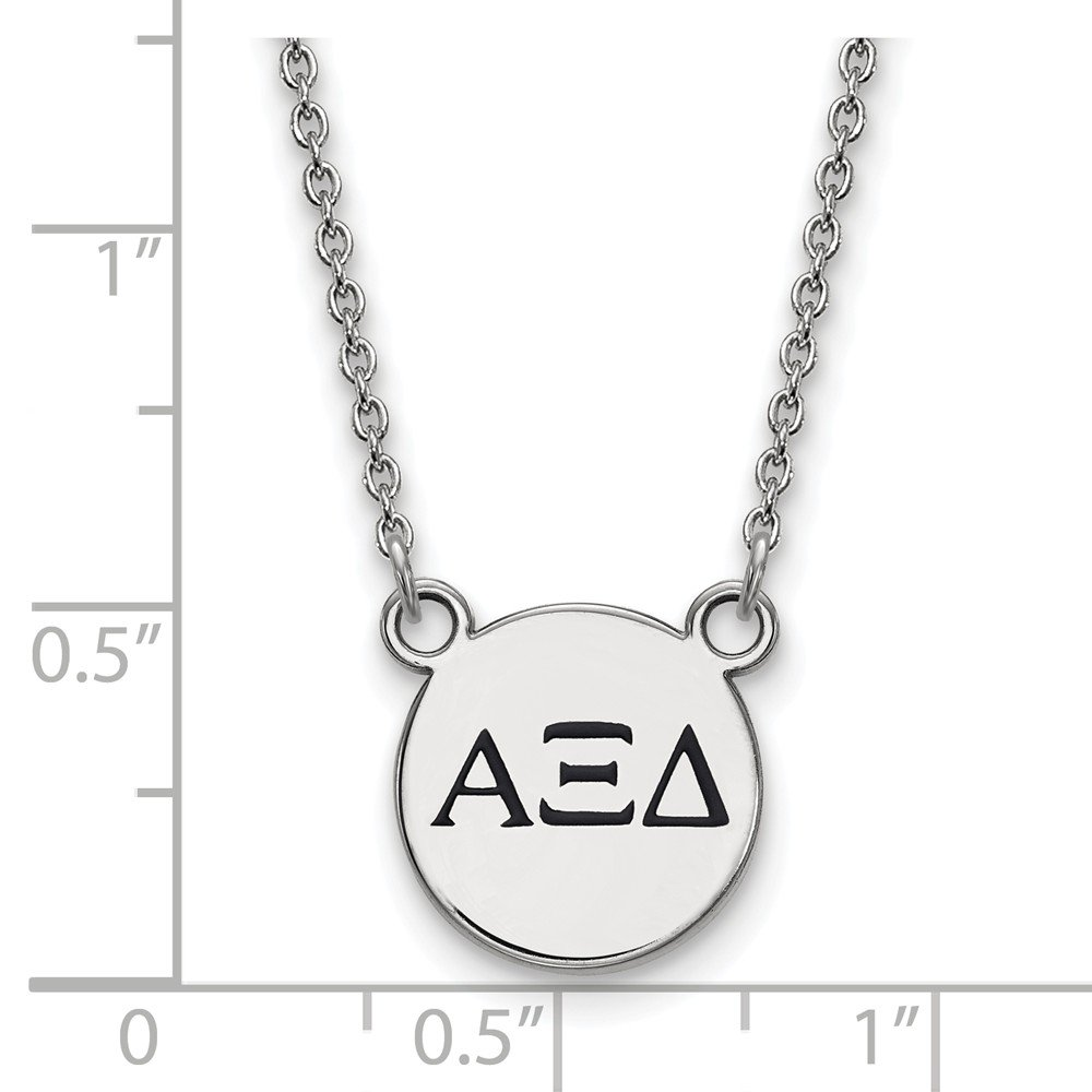 Jewel Tie 925 Sterling Silver Alpha Xi Delta Extra Small Enl Pendant with Necklace 12mm