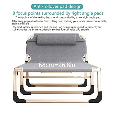 Amazon.com: Cama plegable para camping, cama plegable de ...