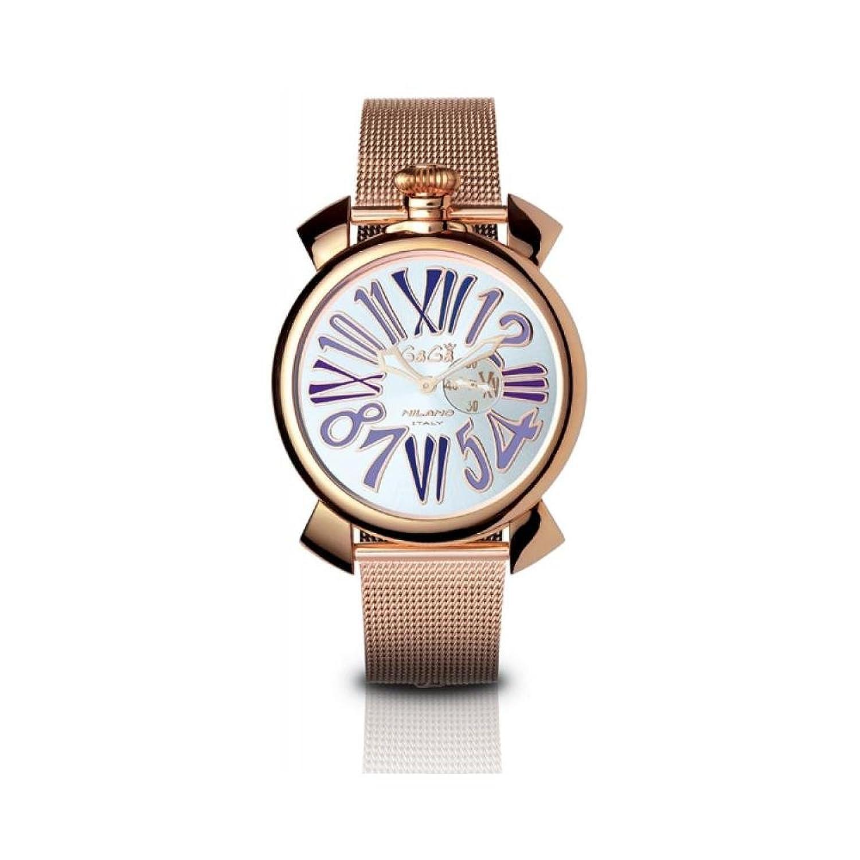 GAGA MILANO 5081.3 SLIM 46MM ガガミラノ 腕時計 スチールベルト【並行輸入品】  B0055AHFQ2