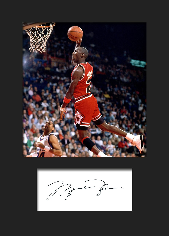 Michael Jordan Signiert Foto A5Print