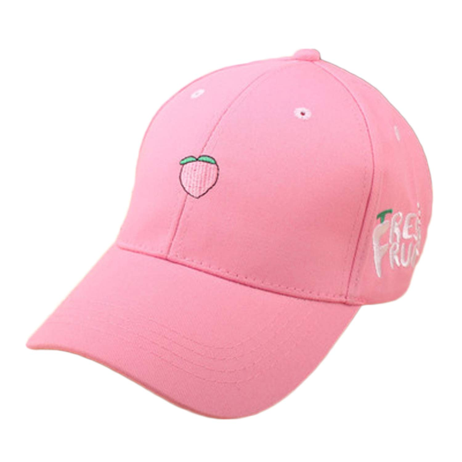 Ilense Spring Leisure Fruit Embroidery Hat Strawberry Banana Cherry Orange Peach Baseball Cap for Women