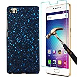 BLU Pure XR Case + Screen Protector,Gzerma Ultra-thin PC Hard Glitter Sky Star PC Back Case Cover and Anti-Explosion, Bubble-Free Protective Film for BLU Pure XR 5.5 inch smartphone (Blue)