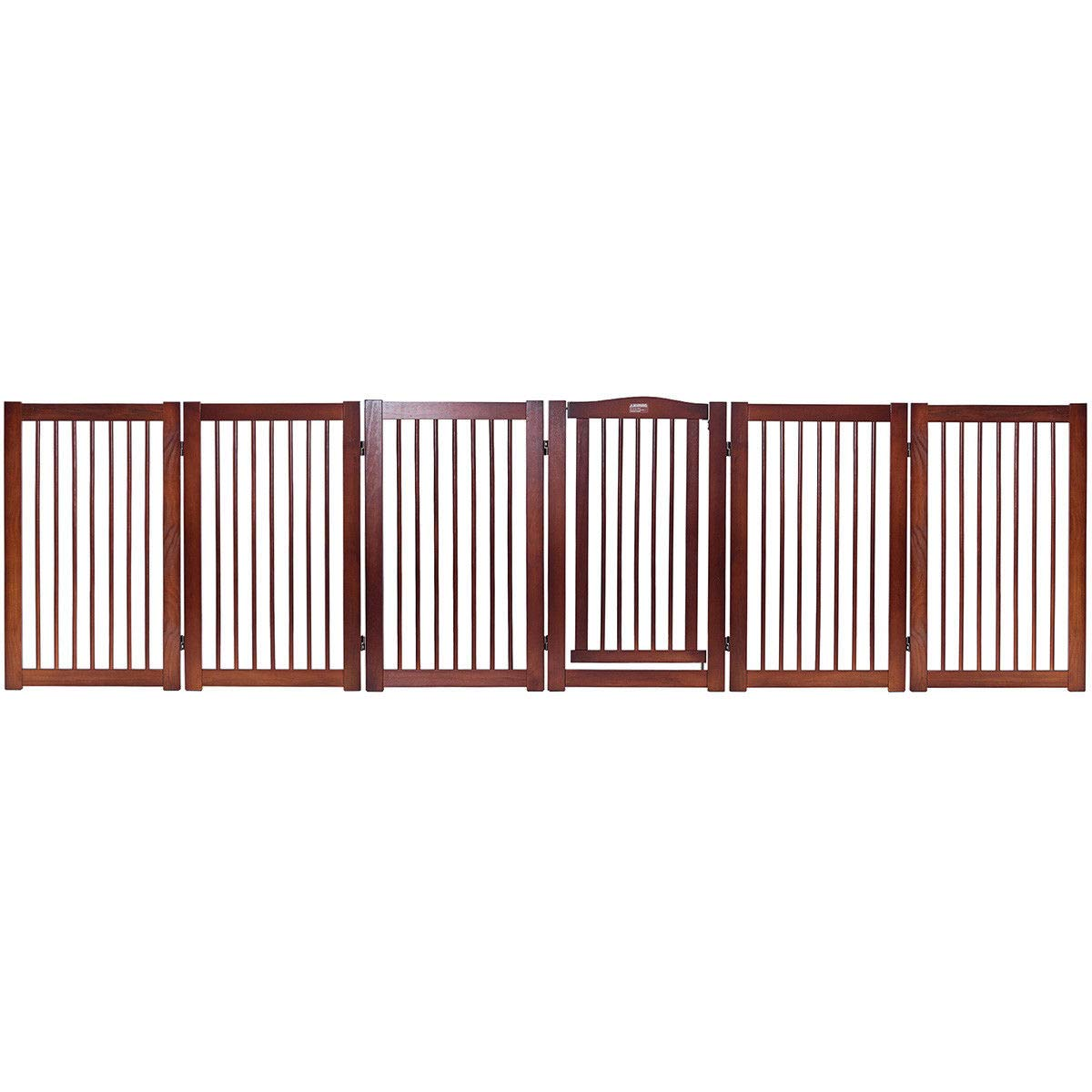 Giantex 36'' Configurable Folding Free Standing Panel Wood Pet Dog Safety Fence w/Gate (133'' W) by Giantex (Image #5)