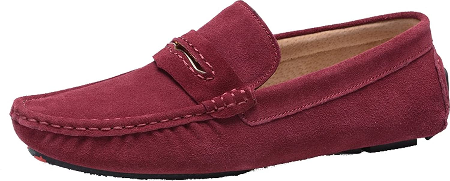 Abby Mens QZ-0057 Fashion Comfort Cozy Cosiness Message Driving Flat Leather Shoes