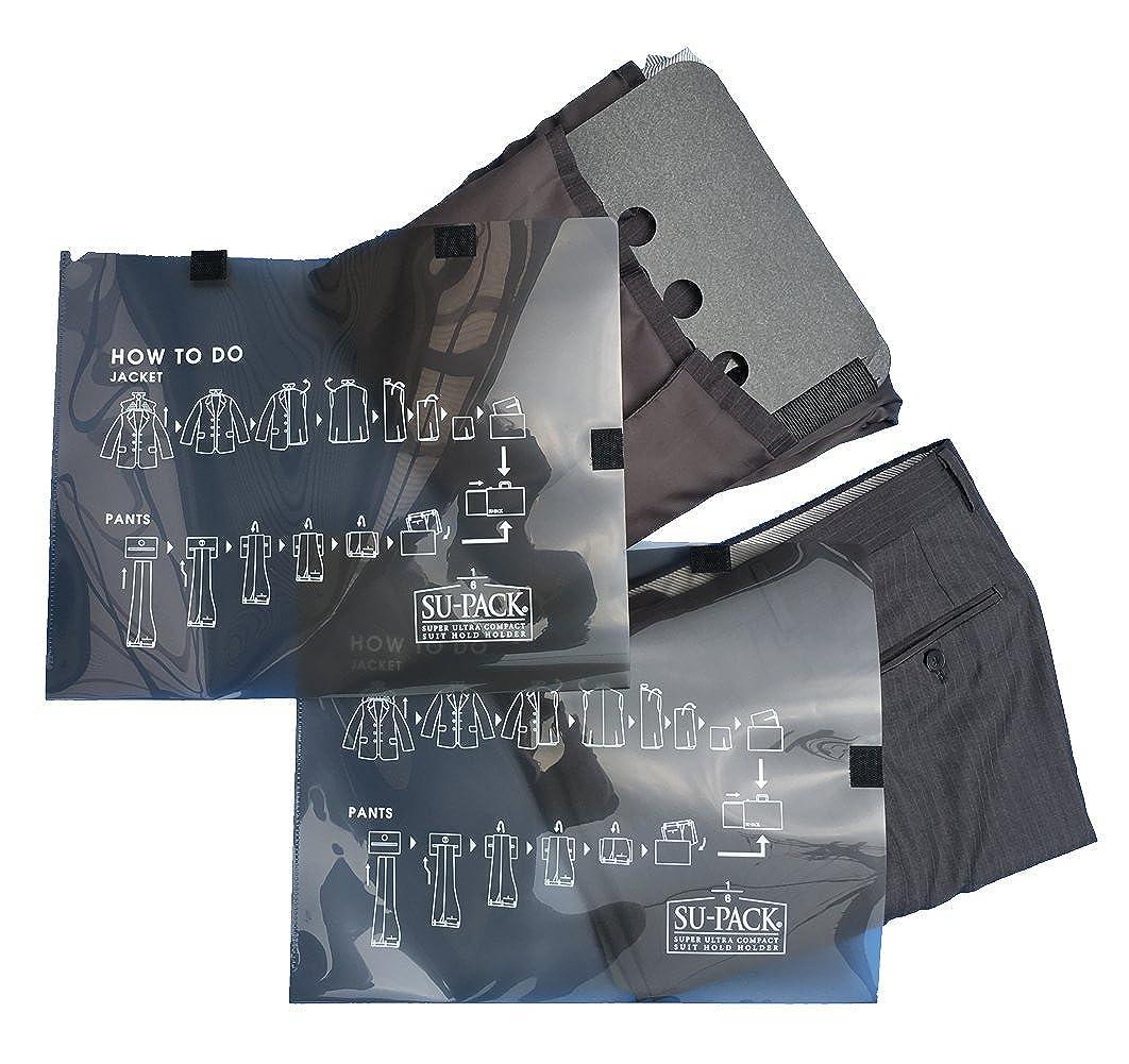 e263665d31a77a Amazon | [SU-PACK] 6分の1クリーン ガーメントケースセット 機内持込可 ブラック | ガーメントバッグ