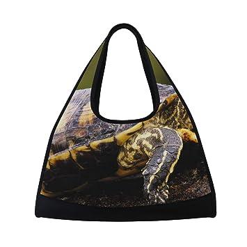 Amazon.com: Bolso de gimnasio con diseño de tortuga marrón ...