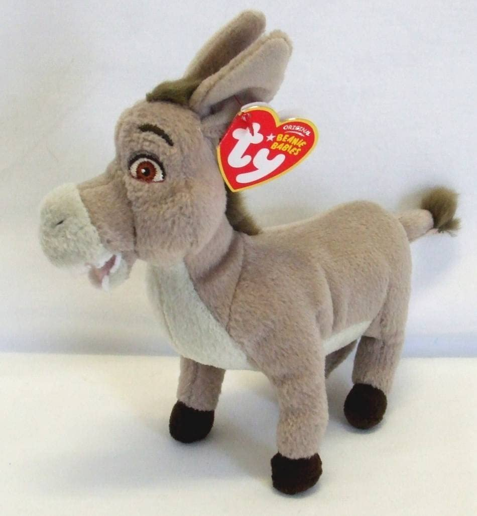 Amazon Com Ty Beanie Baby Donkey The Donkey Dvd Exclusive Toys Games
