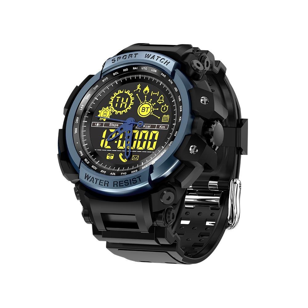 KOBWA LEMFO Black Smart Watch, Swimming Digital Watches for Outdoor Sports, 5ATM Waterproof, Passometer Monitor Multifunction