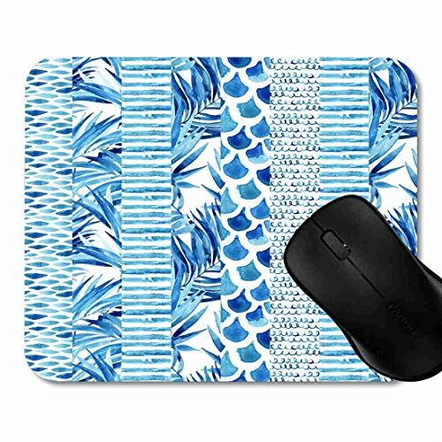 Stripe Squiggle - Mouse Pad Gaming Watercolor Striped with Wave Stripe Squiggle Fish, Premium-Textured Surface, Non-Slip Rubber Base, Laser Optical Mouse Compatible, Mouse mat 1H1536