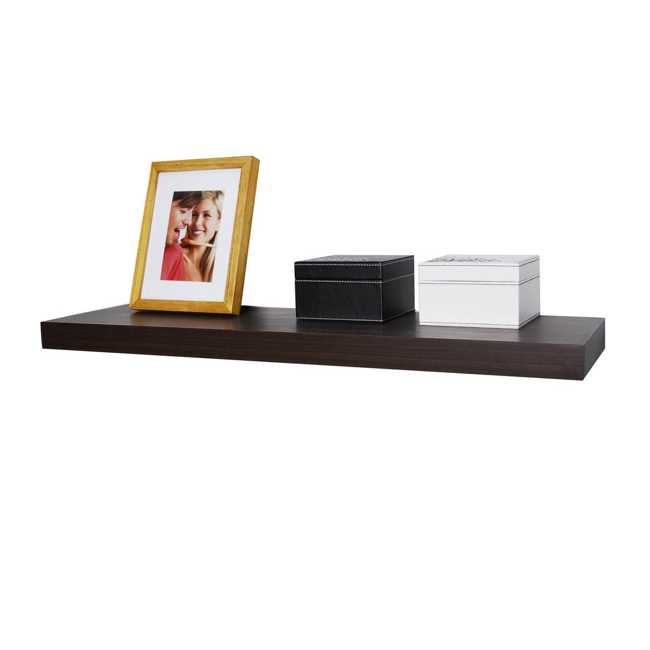 WELLAND Chicago Floating Shelves, 36 inches, Walnut