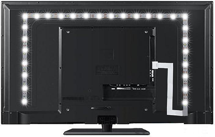 Peyou Lighting - Kit de tiras de luz de fondo LED para televisores de alta definición, color