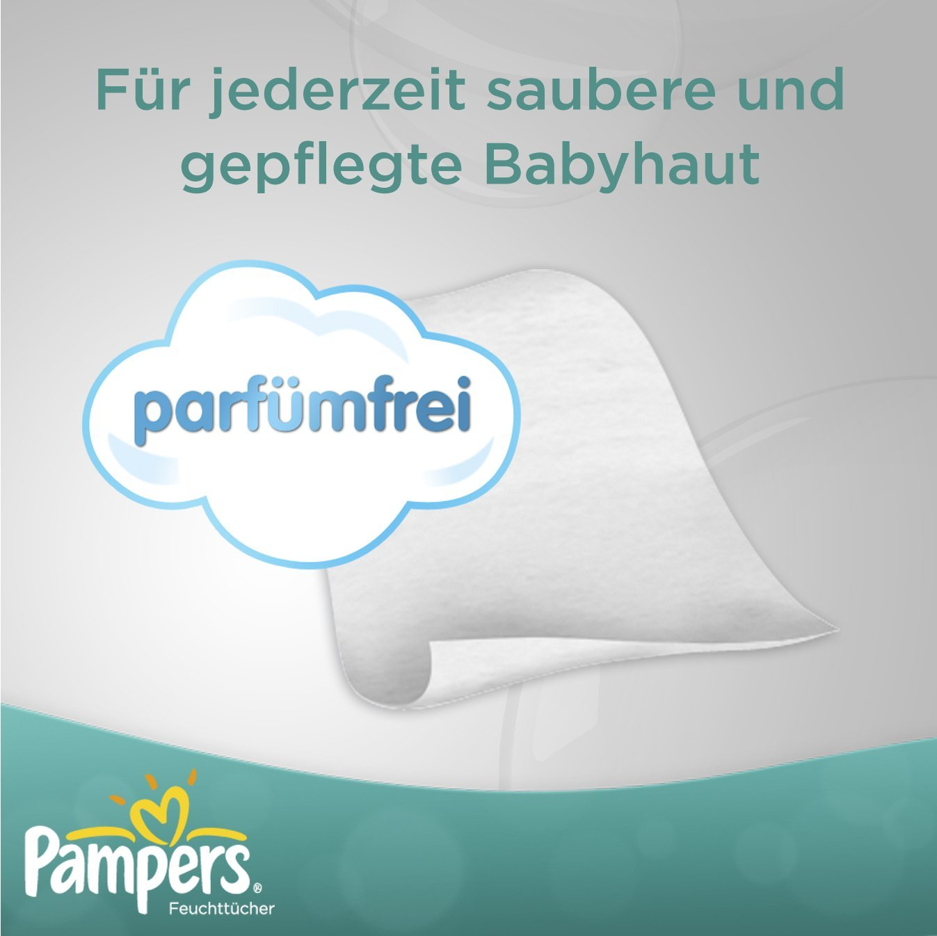 Pampers Feuchte Tücher Babyfresh Parfümfrei Nachfüllpack - 4x64 Stück