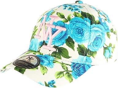 Gorra NY Azul y Blanco con Flores Fashion béisbol Bora – Unisex ...