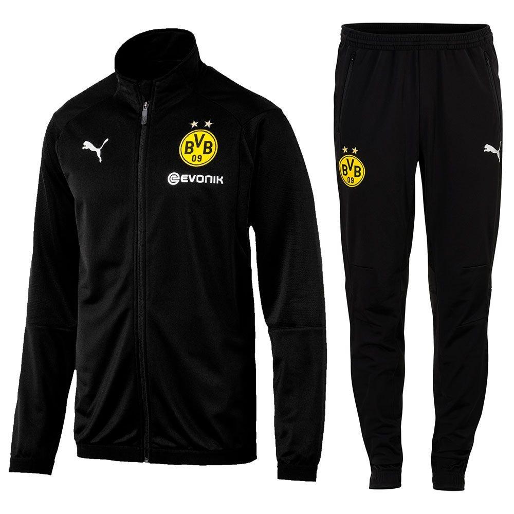 Puma Fútbol Borussia Dortmund Poly Chándal 2018 2019 Chaqueta Pantalones Hombre y niño Amarillo Negro, Negro, 152: Amazon.es: Deportes y aire libre