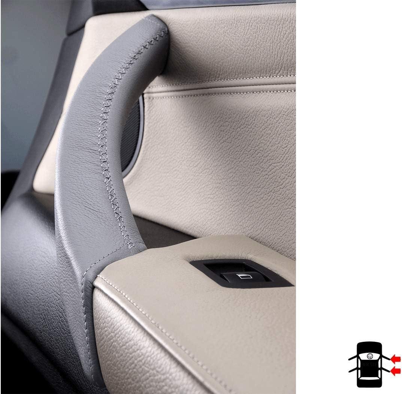 X5 3.5D E70 et X6 E71 droite Couvercle en cuir de carbone noir pour poign/ée de porte int/érieure X5 3.0D E72