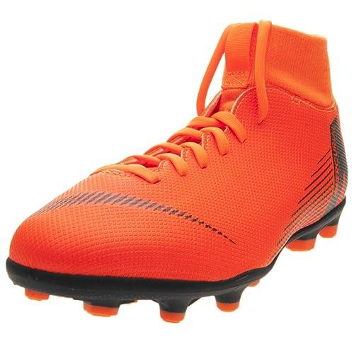 5114ddf42fdf3 Nike Jr Mercurial Superfly 6 Club MG - Limpiador de fútbol (Total Naranja  Negro